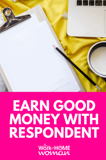 Do you enjoy giving feedback on products and services? If so, you can earn an average of $60 - $140 participating in surveys, focus groups, and website testing gigs on the Respondent platform. #money #surveys #gigs via @TheWorkatHomeWoman