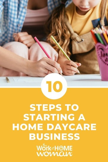 Starting a home daycare business can be an excellent opportunity if you love kids and the idea of being your own boss. Find out how to start! via @TheWorkatHomeWoman