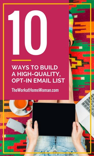 One of the best ways to stay in touch with your customers is through email marketing. But to do that, you need to build an email list. Here are 10 simple list building ideas to try out.  via @TheWorkatHomeWoman