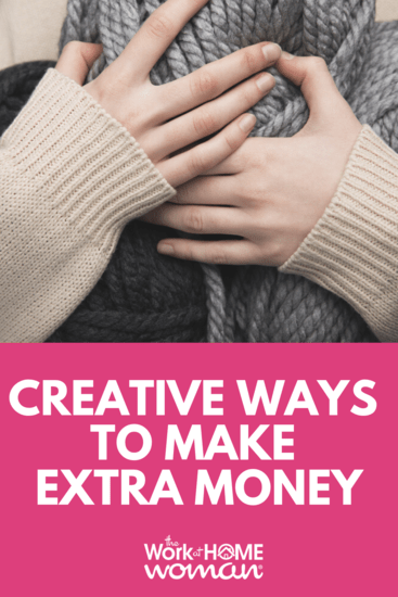 Struggling to come up with ways to make extra cash? If you don't want to work a traditional job here are some creative ideas to help you earn extra money. #gig #extracash #sidehustle #extramoney via @TheWorkatHomeWoman