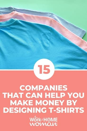 Do you have good design skills? Then you can make money designing t-shirts from home! Here are 15 platforms to help you get started! #selling #extracash #online via @TheWorkatHomeWoman