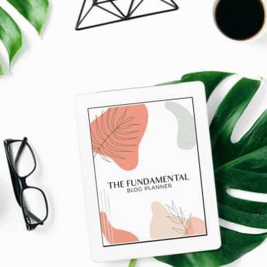 Fundamental Blog Planner