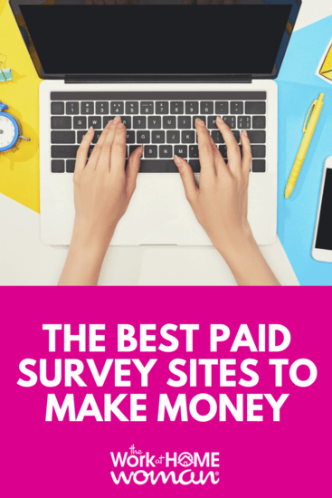 Earn money, rewards, and sweepstake entries for sharing your thoughts on products and services! Here are the best-paid survey sites for making money from home. #surveys #makemoney #extramoney #money #cash #sidehustle #sidegig https://www.theworkathomewoman.com/paid-surveys/ via @TheWorkatHomeWoman
