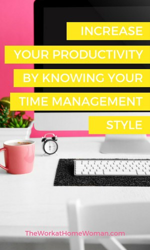 Knowing your time management style is the first step to increasing your productivity. Here are the five time management styles to identify with and the best productivity management tools for each personality type. #time #productivity #management #tools  via @TheWorkatHomeWoman