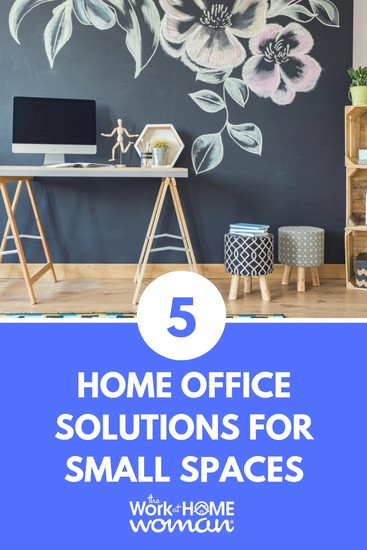 Working at home is ideal for many, but what if you don't have a dedicated office space? Here are five home office solutions for tiny spaces. #workfromhome #office #workspace via @TheWorkatHomeWoman