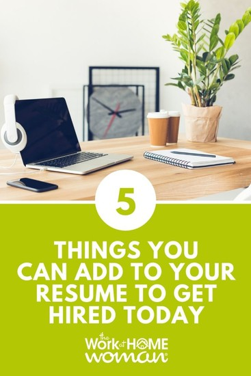 If you've been applying for jobs with no response, your resume may need a rewrite. Here are 5 things to put on your resume to get you hired fast! #resume #career #jobseeker via @TheWorkatHomeWoman