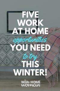 5 Work-at-Home Opportunities You NEED to Try this Winter!