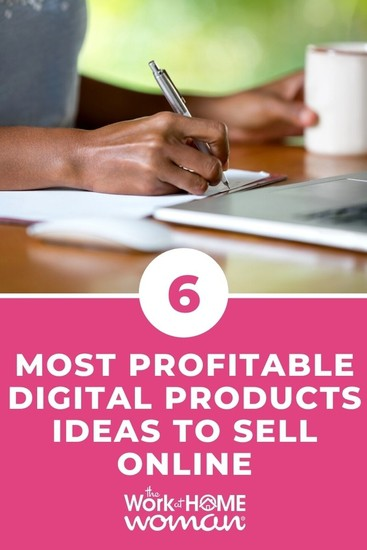 Want to make extra money or diversify your income? Consider selling digital products! Below are the most profitable options to consider. #tosell #ideas #typesof #makemoney via @TheWorkatHomeWoman