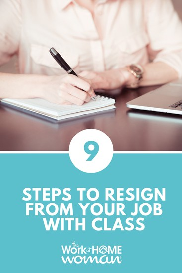 Submitting a resignation letter is nerve-wracking, but it also reflects your professionalism. Here's how to resign from your job with class. #career #quit #job via @TheWorkatHomeWoman