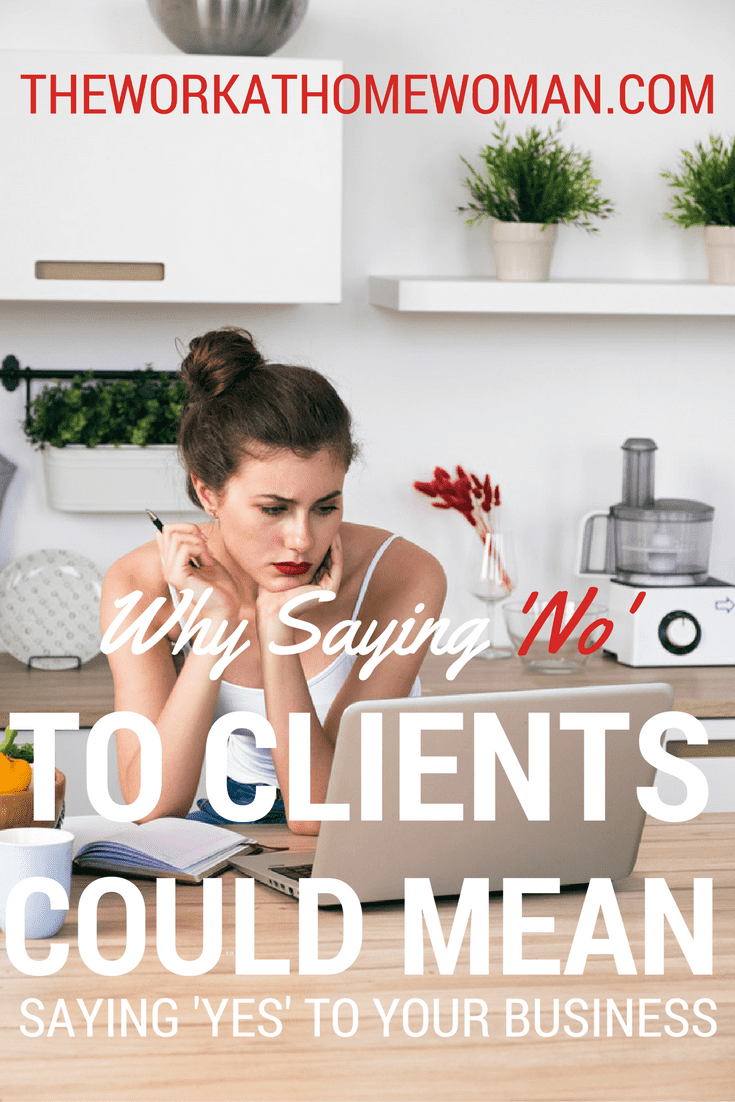 Ready to make more money from your freelance business? Then start saying no to these four types of clients and free up your time for higher paying, more appreciative customers.  via @TheWorkatHomeWoman