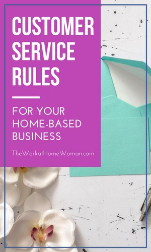 Looking for an easy and effective way to increase sales and keep customers coming back for more? Use these customer service rules for quick and powerful results. via @TheWorkatHomeWoman