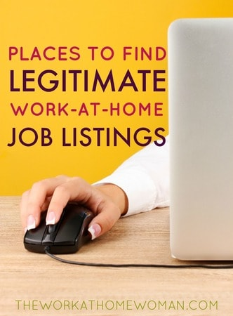 Places to Find Legitimate Work-at-Home Job Listings