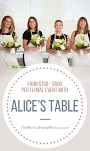 Alice's Table Earn $150 - $600 Per Floral Event with Alice's Table