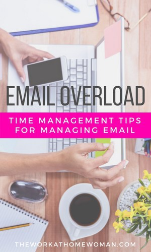 Does email consume your day? Here are some useful productivity tips for managing email, that will save you time, and help you conquer your email overload. #ad #email #productivity #business #spon via @TheWorkatHomeWoman