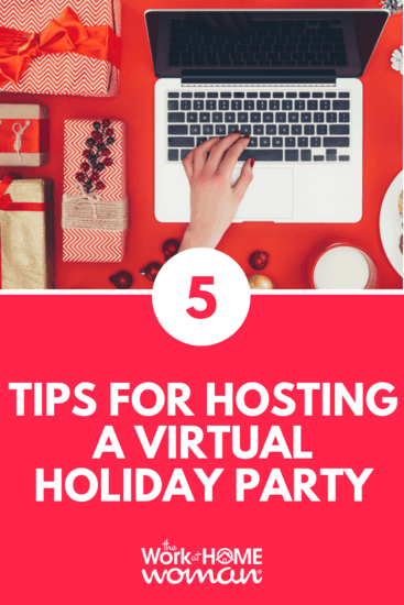 Just because you work at home doesn't mean that you have to forgo the traditional company holiday party. Here are 5 easy ideas to make a Virtual Holiday Party possible. #virtual #holiday #party #christmas #remote #workers via @TheWorkatHomeWoman