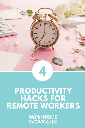 "We all get the same 24 hours a day, and most of us are interested in getting MORE out of our time. The premise of ""work smarter, not harder"" is an attractive one, but what are some concrete ways to be more productive as a work-at-home professional? Here are some simple productivity hacks for remote workers. #time #productivity #work #workfromhome #worksmarter  via @TheWorkatHomeWoman"