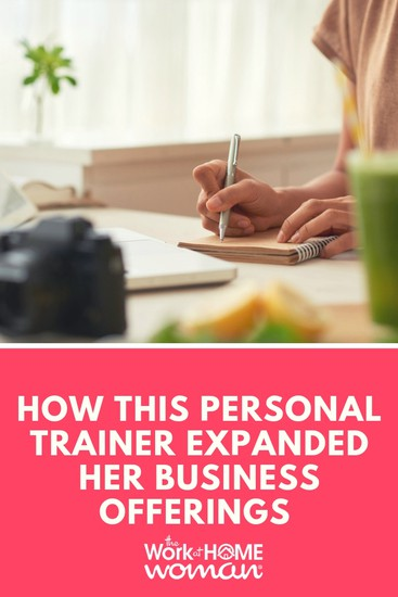 As Karen's family grew, so did her interests and business offerings. Find out how this personal trainer was able to expand her business offerings with coaching, e-courses, blogging, and public speaking. #health #fitness #coaching #women via @TheWorkatHomeWoman