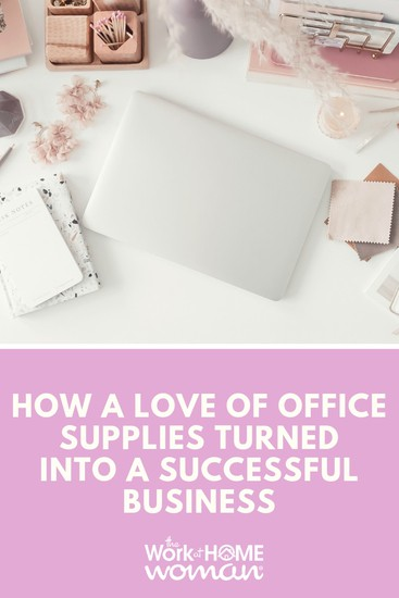 Find out how Holly Bohn and her love affair with office supplies started her successful business, See Jane Work. #business #office #supplies via @TheWorkatHomeWoman