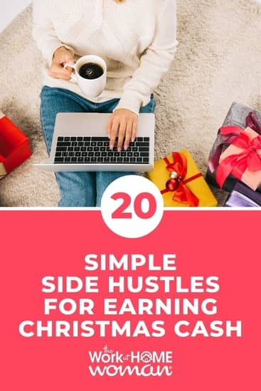 Earning enough money to cover holiday expenses can be a daunting task. But we have 20 awesome side hustles perfect for earning Christmas cash! #money #holidays https://www.theworkathomewoman.com/earning-christmas-cash/ via @TheWorkatHomeWoman
