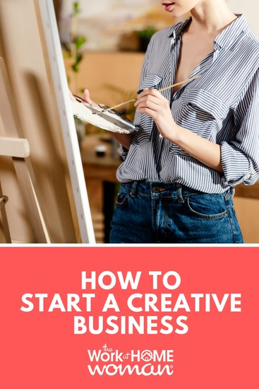 Starting a creative business may seem daunting. While it certainly isn't effortless, becoming self-employed is easier than most think. Here are some simple steps to get you started! #business #arts #crafts #workfromhome via @TheWorkatHomeWoman