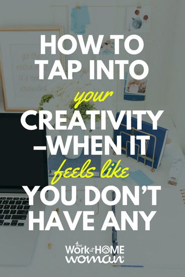No matter how creative you are, we all experience dry spells. Here are ten ways to tap into your creativity, even if it feels like you don't have any. #creative #creativity #inspiration #motivation  https://www.theworkathomewoman.com/tap-into-your-creativity/ via @TheWorkatHomeWoman