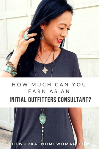 Wow! With this direct sales business, consultants earn an average of $150-$200 per party! Read on to find out if being an Initial Outfitters Consultant if your dream work-at-home career! #directsales #workathome #ad #jewelry #gifts via @TheWorkatHomeWoman