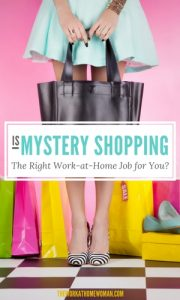 Is Mystery Shopping the Right Work at Home Job For You?