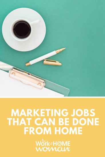 Marketing Jobs That Can Be Done From Home