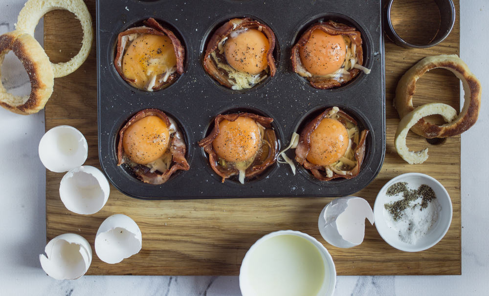 Meals in Minutes: Bacon Egg and Cheese Breakfast Cups #breakfast #eggs
