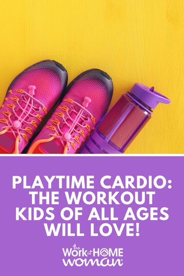 For many parents squeezing a workout into their over-scheduled day means sacrificing time with the family. Here are some fun ways to workout with your kids. #parents #workout #kids #exercise via @TheWorkatHomeWoman
