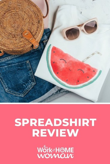 Would you like to design and sell t-shirts for money? Learn everything you need to know about doing so in this Spreadshirt review! via @TheWorkatHomeWoman
