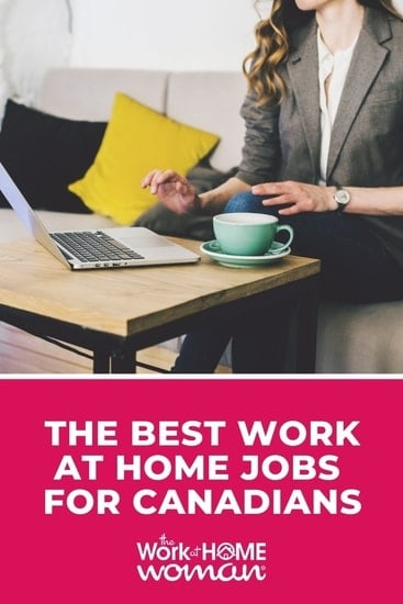 Whether you're looking to make extra money or a full-time job, you'll find a lot of ideas in this BIG list of work-at-home jobs for Canadians. via @TheWorkatHomeWoman