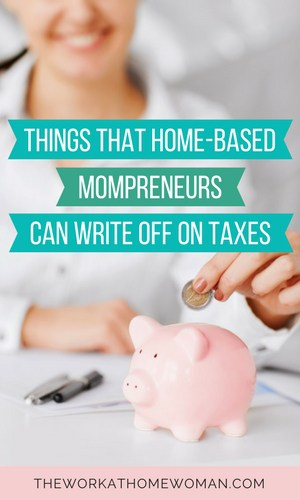 To maximize your profits, you'll want to contain your operating costs as much as possible. At the same time, you'll want to capture as many deductible business expenses as you can to save on your taxes. Here are items that home-based mompreneurs can write off. #tax #taxes #business #deductions #money via @TheWorkatHomeWoman