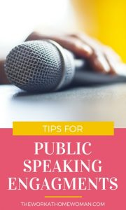 Tips for Public Speaking Engagments