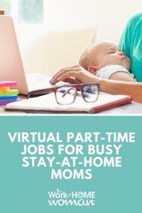 Emplois virtuels à temps partiel pour les mamans occupées à domicile