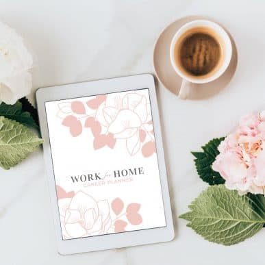 Work from home career planner