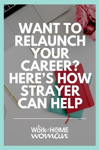 Did you leave the workforce to stay-at-home with your kids? Are you wondering how to relaunch your career? Here's how Strayer University is helping moms re-enter the workforce with flexible, cost-effective, and innovative programs that help them easily achieve their career goals, even after a long hiatus. #ad #career #work #job #relaunch  via @TheWorkatHomeWoman