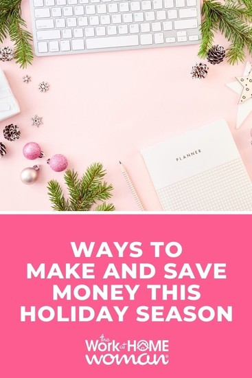 Don't let the holidays stress you out! Here are five sure-fire ways to make money, save money, and NOT go broke this holiday season. #tips #plan #ideas via @TheWorkatHomeWoman