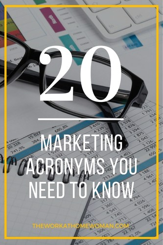 Here is a run-down of some commonly used marketing acronyms, both on and offline. By reviewing, and becoming familiar with these, it can save you time as you plan and research your marketing strategies. via @TheWorkatHomeWoman