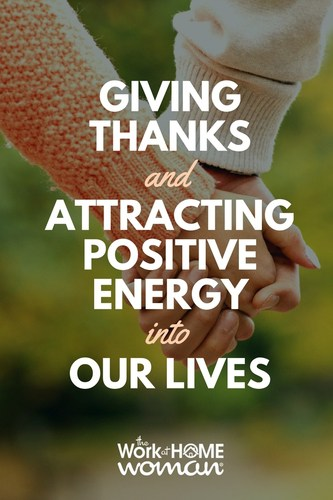 Being thankful is the key to attracting positive energy and positive experiences. Here are a few exercises to help you move to gratefulness and to attracting positive energy into your life. #positivethinking #lawofattraction via @TheWorkatHomeWoman