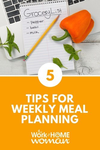 5 Tips for Weekly Meal Planning