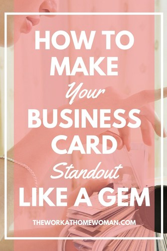 How to make your business card standout like a gem reheart Gallery