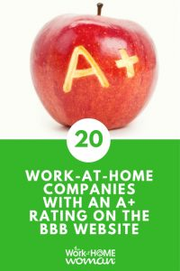 Work-at-Home Companies with an A+ Rating on the BBB Website