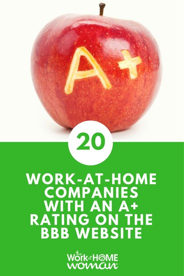 To help take some of this uncertainty out of your job search, I've put together a list of 20 work at home companies that have an A+ rating with the Better Business Bureau. #BBB #jobsearch #workfromhome #workathome #job #legit via @TheWorkatHomeWoman