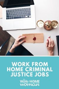 Work from Home Criminal Justice Jobs