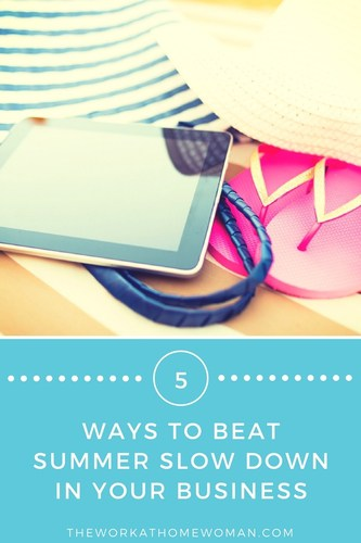 While temperatures are heating up, many small business owners experience a summer cool down. Here are five ways to beat summer slow down in your work-at-home business. via @TheWorkatHomeWoman