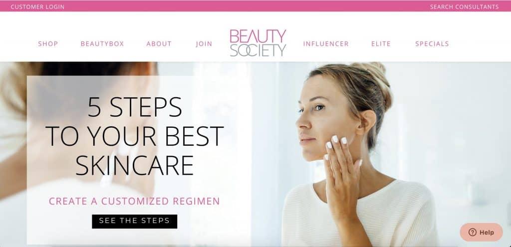 Beauty Business - Beauty Society Website