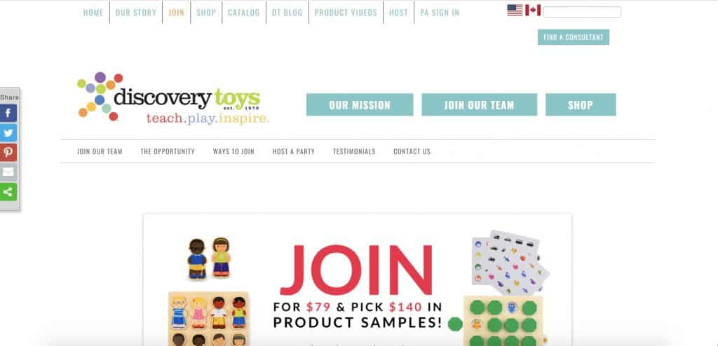 discovery toys direct sales