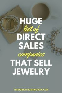 HUGE List of Direct Sales Companies That Sell Jewelry