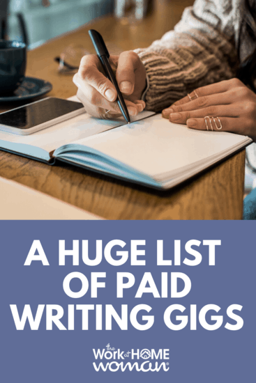 A HUGE List of Paid Writing Gigs and Opportunities